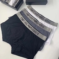 Armani Men Briefs Shorts Underpants Male Cotton Underwear