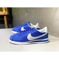 Nike Cortez Basic Nylon New fashion hook print couple shoes Blue