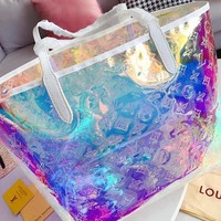 LV Louis Vuitton Fashion Women Shopping Laser Tote Handbag Size:32*26cm