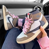 Nike Air Jordan AJ1 High-Top Men's and Women's Sneakers Shoes