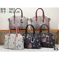 Coach Women Shopping Leather Tote Crossbody Shoulder Bag 2 Set 7007#