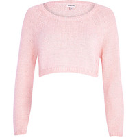 River Island Womens Light pink cropped sweater