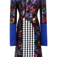 Tropical Floral Jacquard Arched Overcoat by Harbison for Preorder on Moda Operandi