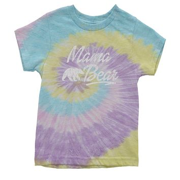 Mama Bear Vintage Distressed Youth Tie-Dye T-shirt