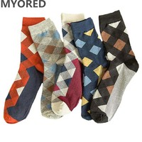 Men's Diamond Socks - 5 Pairs