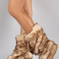 Women's Pom Pom Fur Eskimo Mid-Calf Boot
