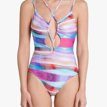 Sunset Laced Front Swimsuit