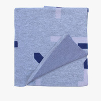 Cut Out Throw - Grey/Cobalt/Lilac | Hello Polly