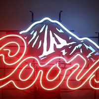 Coors Light Neon Sign Real Neon Light