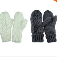 Fashion Ladies' Winter Knitted Gloves Mittens = 1957997636