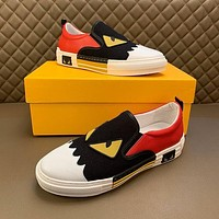 FENDI Men Fashion Boots fashionable Casual leather Breathable Sneakers Running Shoes-16