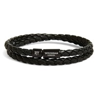 Men's Tateossian 'Chelsea' Double Wrap Bracelet - Black