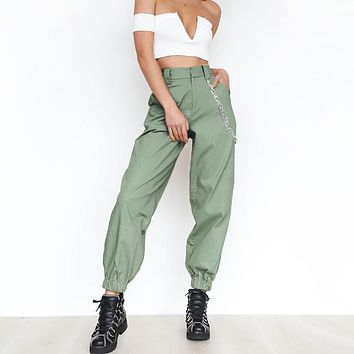 fhotwinter19 new personality solid color sports casual pants harem pants women