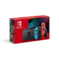 Nintendo Switch – Neon Red and Neon Blue Joy-Con (UK with Adapter)
