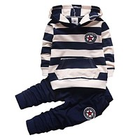 spring autumn new fashion baby boys girls hoodies sport suit Children clothing set toddler casual kids tracksuit set