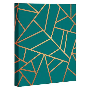 Elisabeth Fredriksson Copper and Teal Art Canvas