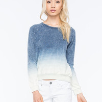 Billabong Call Out Dip Dye Womens Pullover Hoodie Blue/White  In Sizes