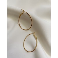 Carla 40mm Thin Teardrop Gold Hoops