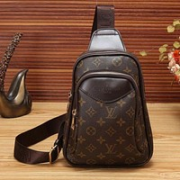 Louis Vuitton LV Men Women Leather PU Waist Bag Shoulder Bag
