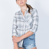 Jordan Plaid Blouse