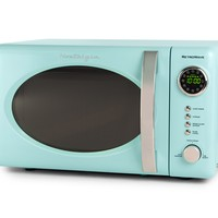 Nostalgic Retro Vintage Old Fashion CounterTop Red Small Compact Dorm Size Microwave Oven