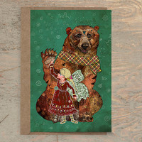 Magic Bearer - Greeting Card, Bear Card, Animal Card, Art Card, Whimsical Card, Wildlife Card, Blank Card, Christmas Card, Any Occasion Card