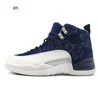 High Quality Nike Air Jordan 12 men basketball shoes Gym Red Basketball Shoes Playoff white Blue Flu Game outdoor Sport Shoes