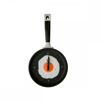 Egg Frying Pan Novelty Clock