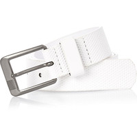 River Island Boys white perforated belt