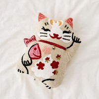 Lucky Cat Throw Pillow | Urban Outfitters