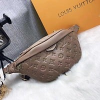 LV Louis Vuitton classic waist bag fashion men and women plush leather shoulder messenger bag mobile phone bag coin purse