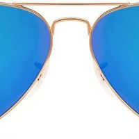 Ray-Ban RB3025 112/17 Aviator Sunglasses 62 Size (Blue) EXPRESS SHIPPING.