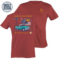 Simply Southern God Country Truck Barn Unisex Design T-Shirt
