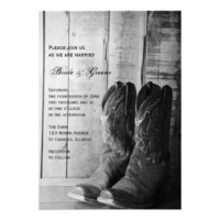 Rustic Cowboy Boots Country Wedding Invitation from Zazzle.com