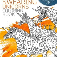 A Swearing Unicorn Bohemian Mandala Adult Coloring Book