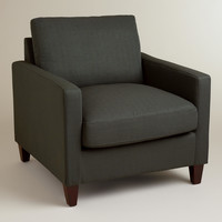 Charcoal Gray Textured Woven Abbott Chair