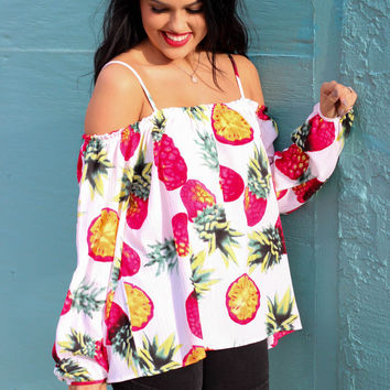 Tropical Love Story Top: White
