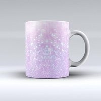 The Pink Unfocused Orbs of Light ink-Fuzed Ceramic Coffee Mug