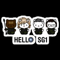 """Hello SG1"" Stickers by TheRandomFactor 