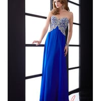 Jasz Couture 5013 Royal Chiffon & Beaded Corset Bodice Gown 2015 Prom Dresses