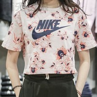 Nike Women Fashion Casual Sports Shirt Top Tee-9