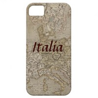 Italy Vintage Map Case iPhone 5 Cases