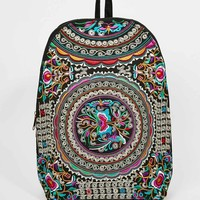 Reclaimed Vintage Embroidered Backpack in Blue floral Pattern