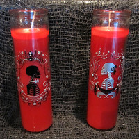 Bride and Groom Candle Set - Horror Gothic Wedding Spooky