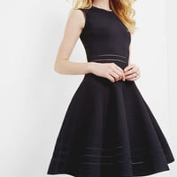 Knitted cut-out skater dress - Dark Blue | Dresses | Ted Baker ROW