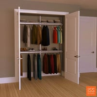 "SALE ITEM - 72"" Wide 2-Bay Closet System"