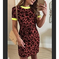 fhotwinter19 new hot sale ladies fashion leopard print slim dress