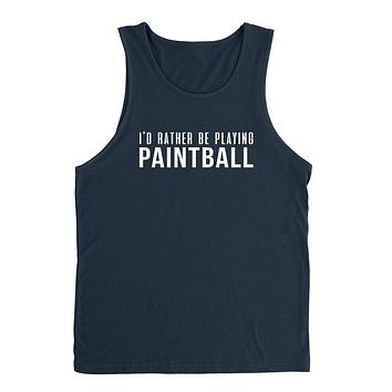 I'd rather be playing paintball funny cool sport gift ideas for him for her Tank Top