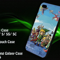 The Legend of Zelda Wind Waker == iPhone 4/4S / 5/ 5s/ 5c case, iPod Touch 4 / 5 case, Samsung Galaxy S3/ S4 case