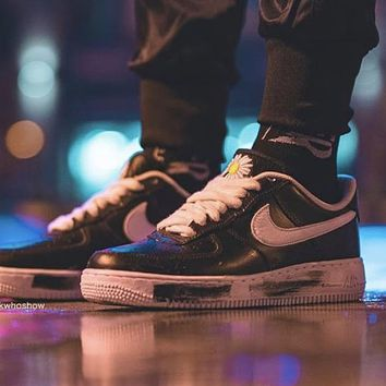 PEACEMINUSONE x Nike Air Force 1 PMO low-top black and white casual sports shoes